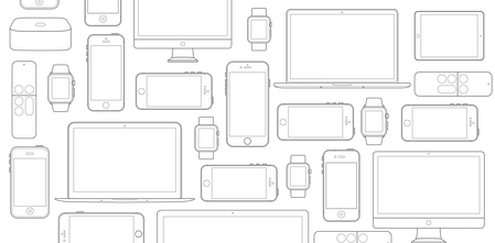 Device Mockups - Ready to use vector device mockups for Sketch