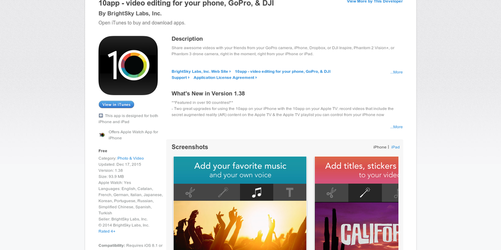 10 app for Apple Watch - Right from your Apple Watch, record