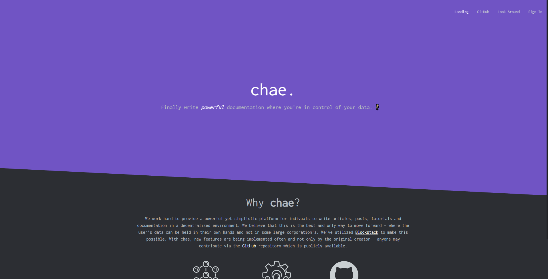 Chae - Powerful, simple and decentralized publishing application