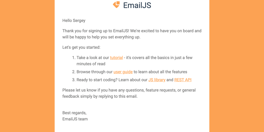 EmailJS - Send email directly from Javascript No server code needed   Product Hunt
