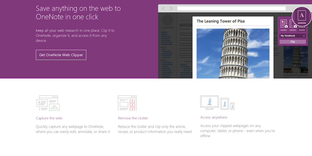 OneNote Clipper 2 0 - Now with intelligent article, recipe