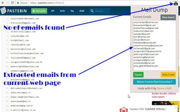 Mail Dump - Automatically extract emails from any webpage