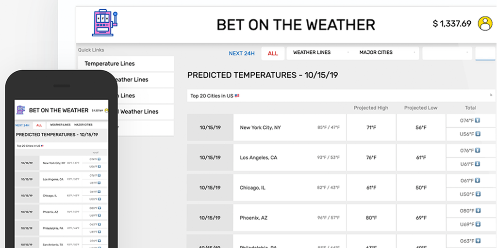 Bet On Weather - Bet against your local meteorologist Make money | Product Hunt
