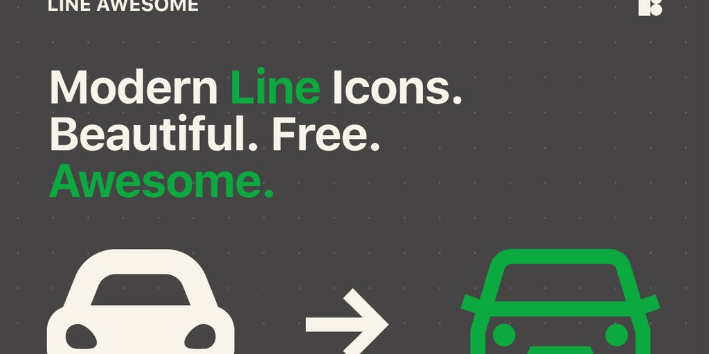 Line Awesome - Open-source icon font with 1380+ beautiful line icons | Product Hunt