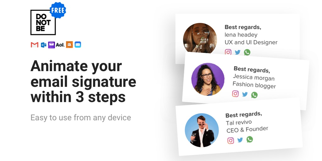 Do Not Be Square - Record a free unique animated email signature in 3 steps | Product Hunt