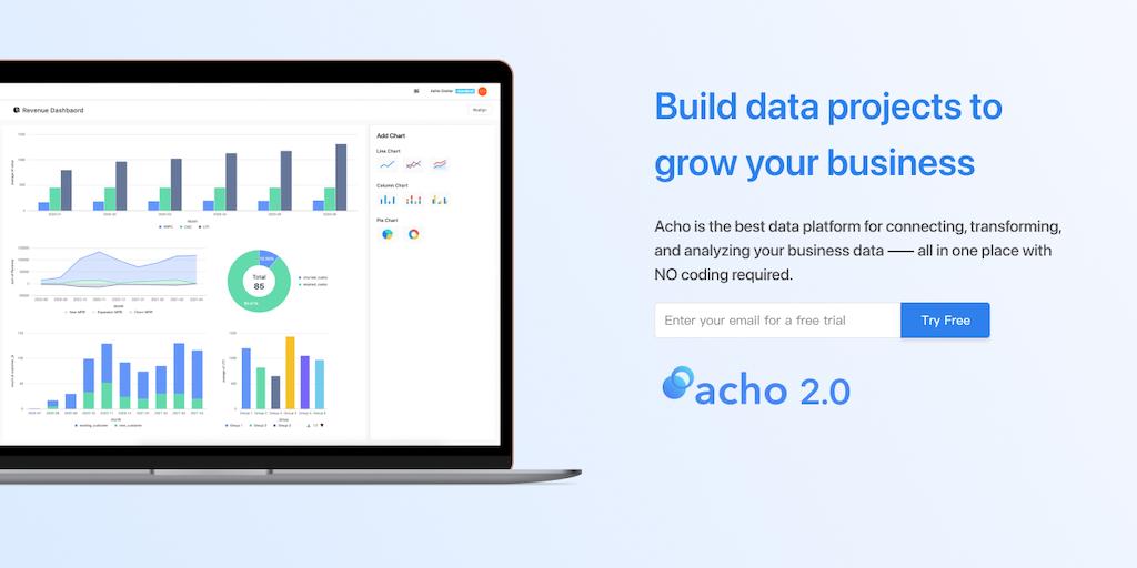 Acho 2.0 - No-code data warehouse for analytics | Product Hunt