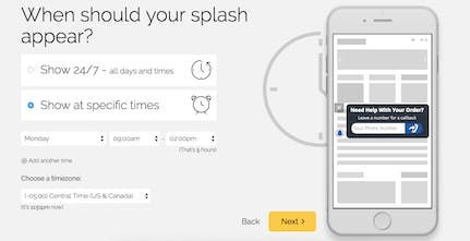 Banana Splash - Turn mobile visitors into leads | Product Hunt