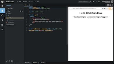 CodeSandbox - The online code editor for web development   Product Hunt