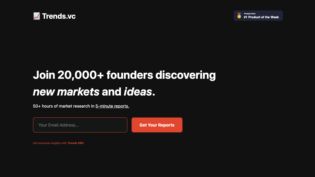 Trends.vc Product Hunt Image