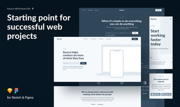 Source Wireframe Kit - Library of 537 blocks for desktop and