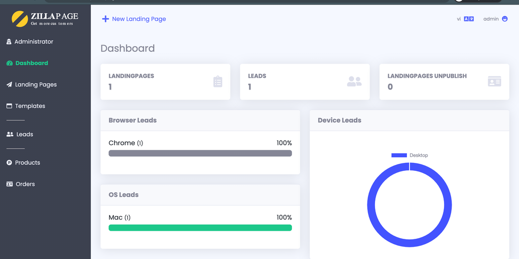 Zillapage - Get your leads and sell your product with landing page | Product Hunt