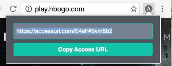 AccessURL - Share access to accounts without sending a
