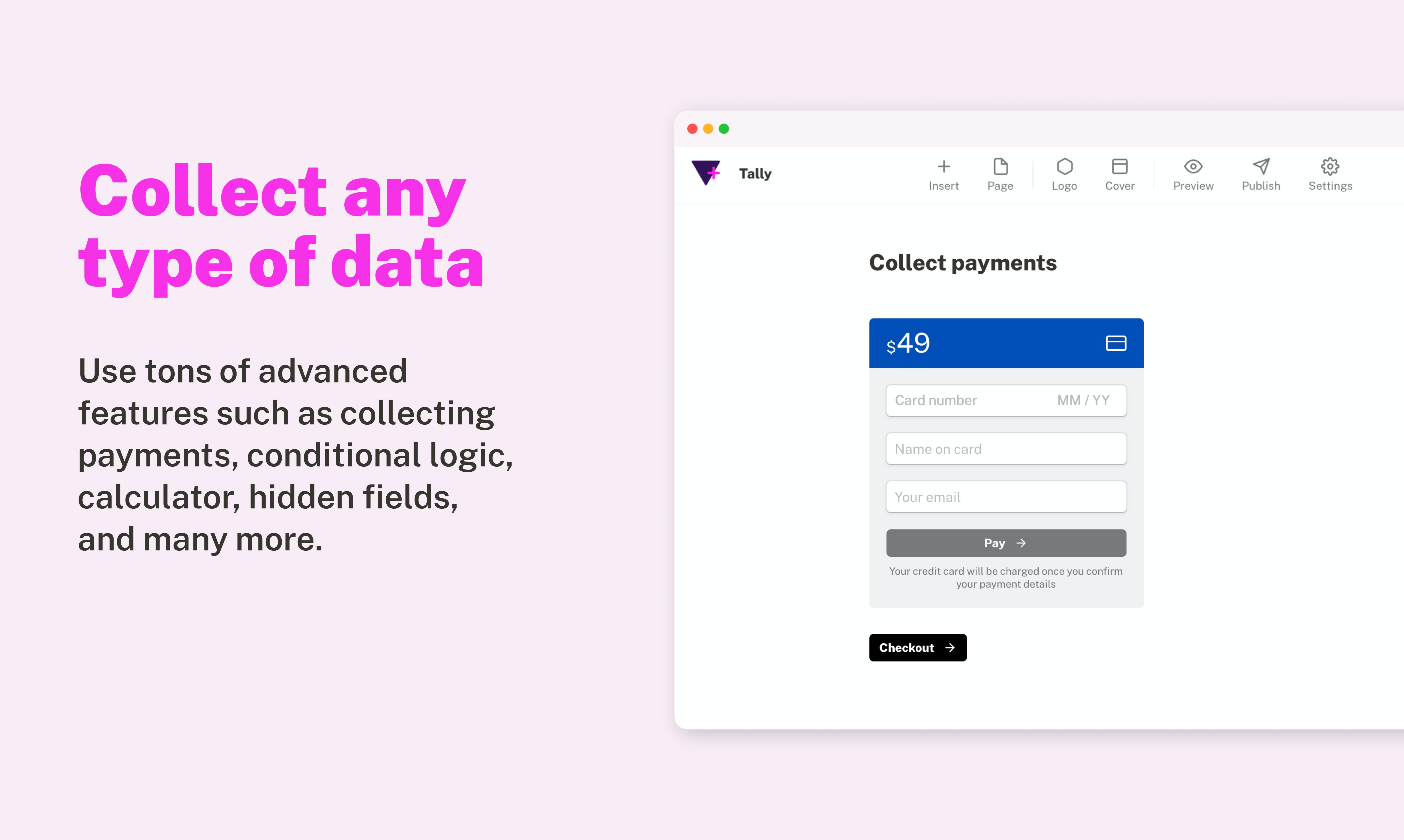 Tally Product Hunt Image