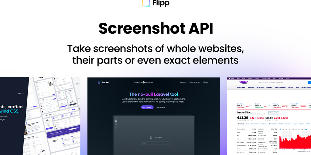 Screenshot API by Flipp - Take screenshots of whole pages or even exact elements | Product Hunt