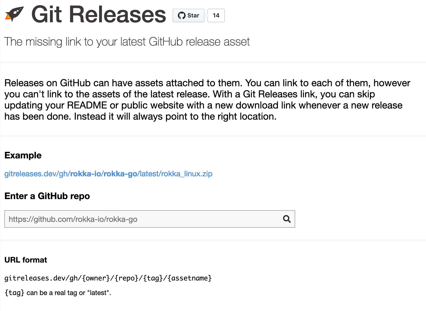 Git Releases - The missing link to your latest GitHub release asset