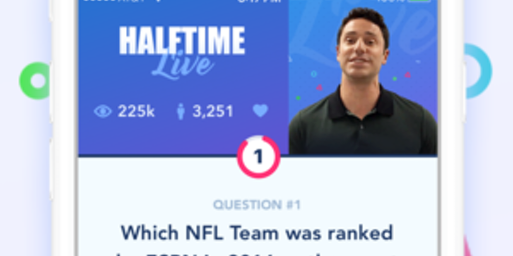 Halftime Live - HQ, but for sports trivia | Product Hunt