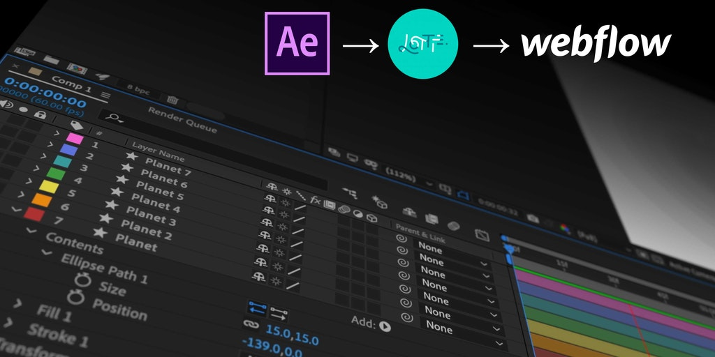 After Effects & Lottie in Webflow - Add AE animations to your site visually — without code | Product Hunt