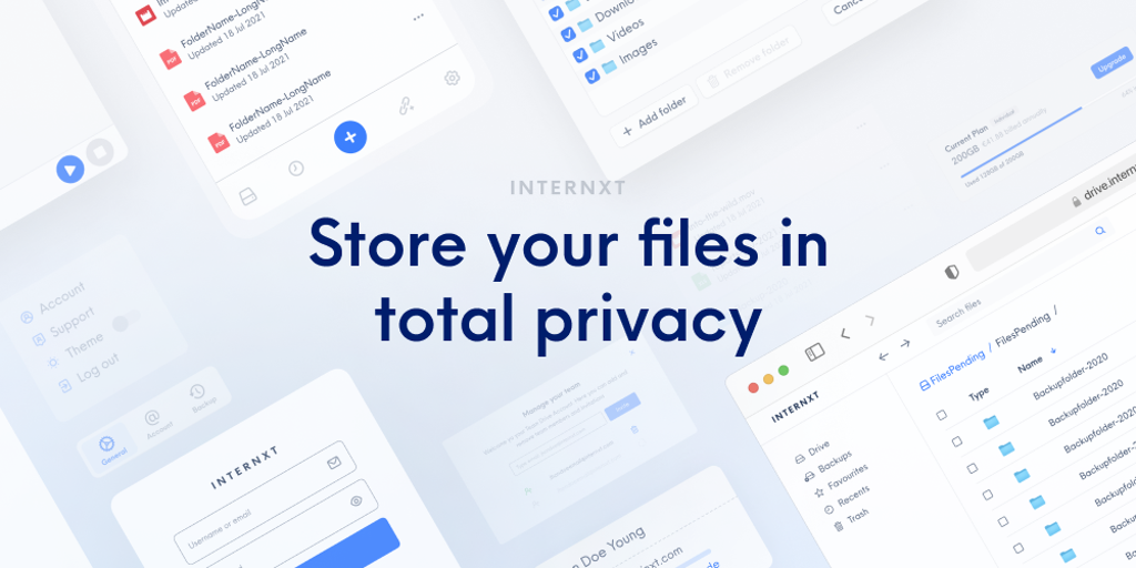 Internxt - Secure, private, decentralized & open source cloud storage   Product Hunt