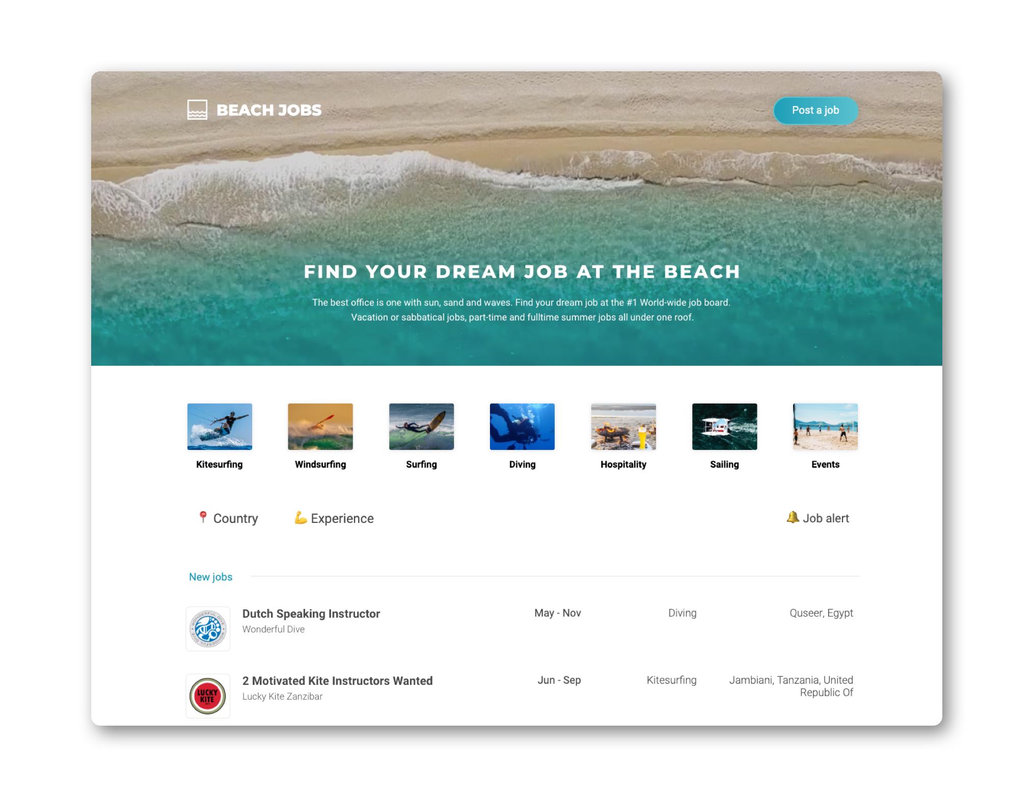 Beach Jobs - Work at the beach while you travel