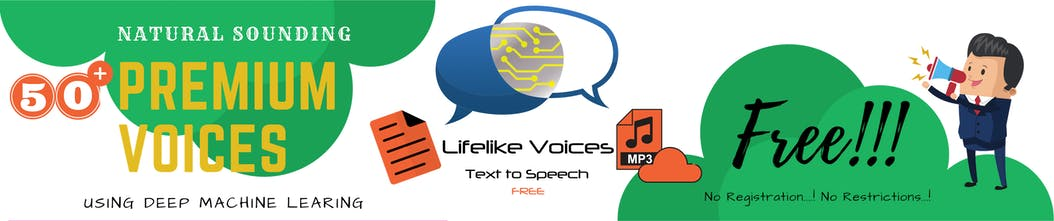 Lifelike Voices Text to Speech - A free text to speech app