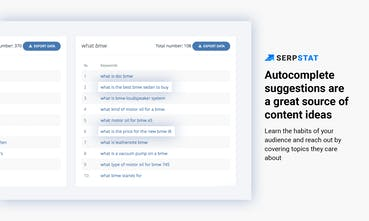 Serpstat - Content ideas from autocomplete suggestions
