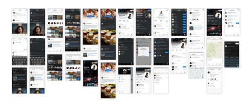 Based Mobile: Social UI Kit for Sketch - UI Kit for feeds on