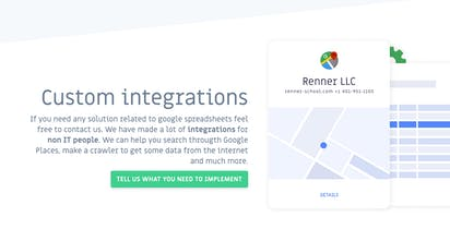 SheetDB - Turn a Google Spreadsheet into a RESTful API