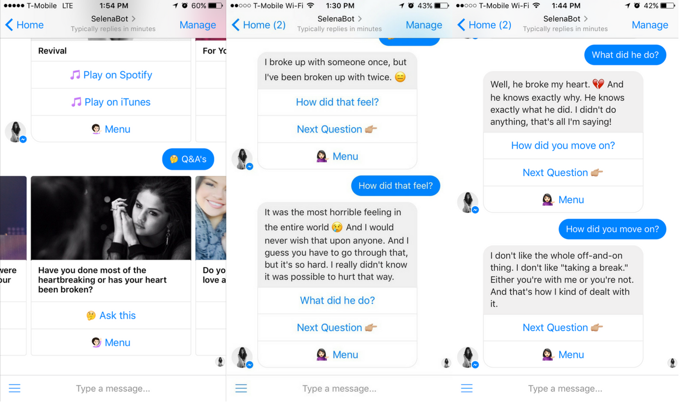 Chat with selena gomez bot