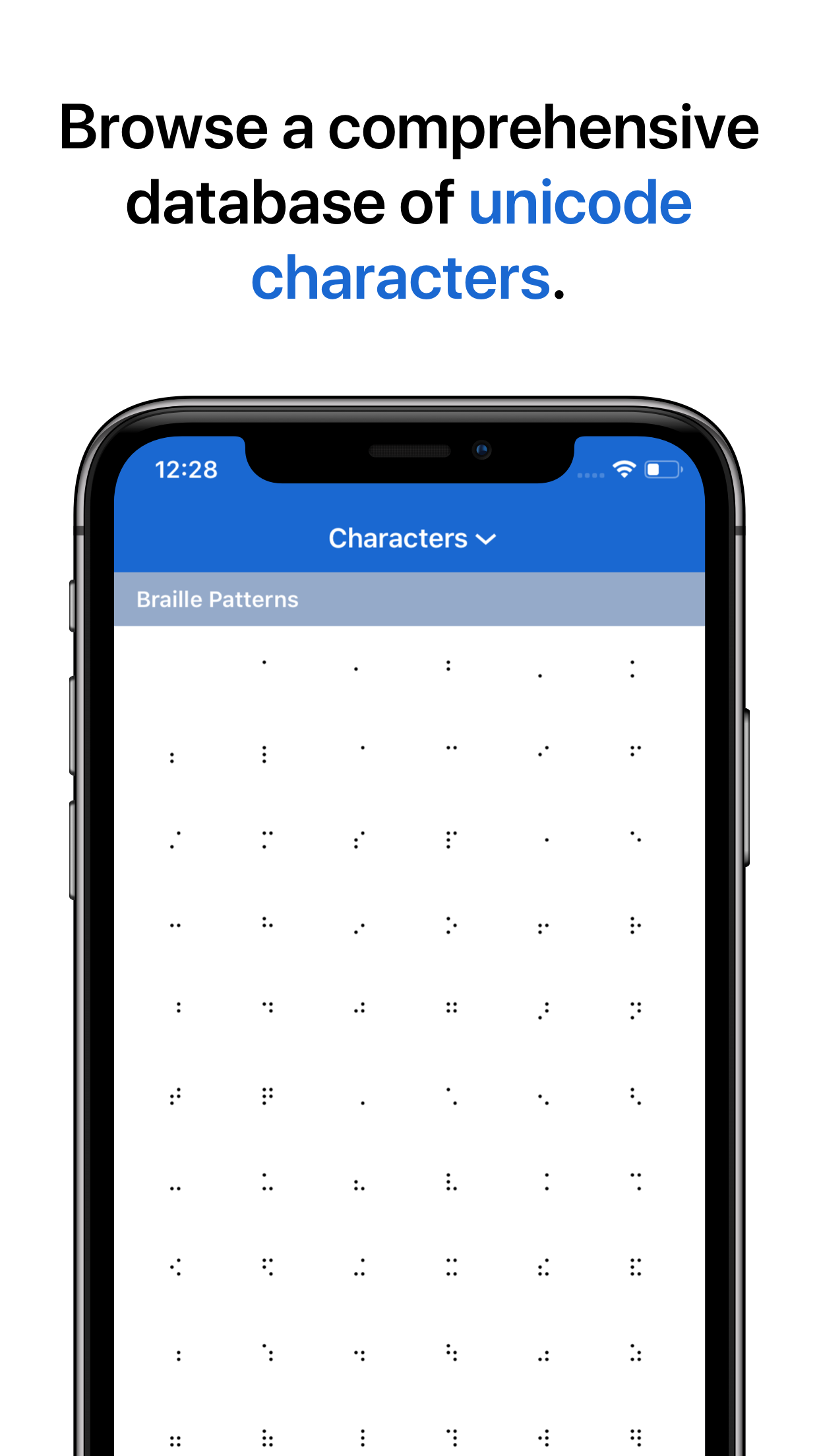 CharMap - Unicode character viewer and keyboard for iOS