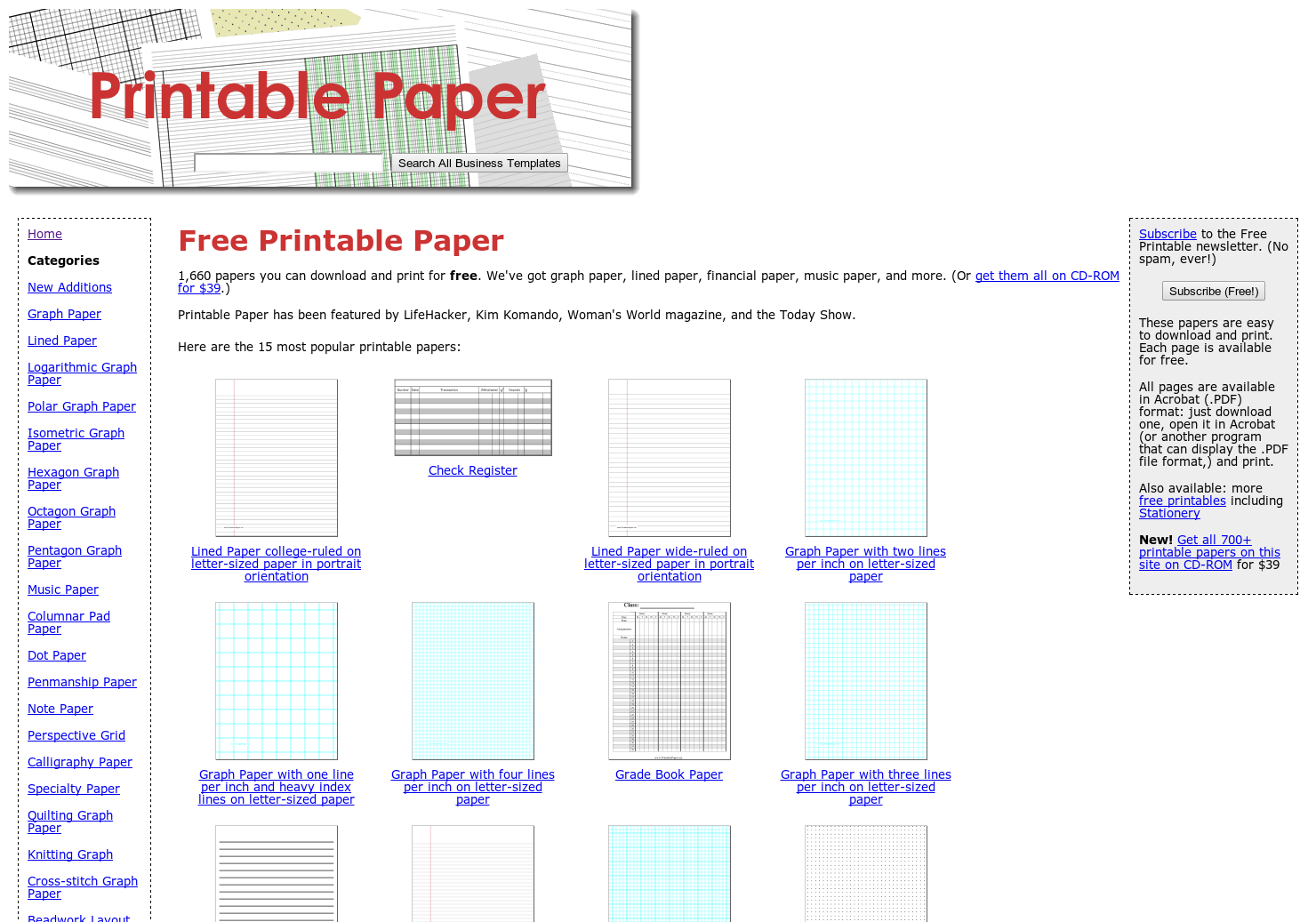 picture about Www Printablepaper Net named Printable Paper - Print Graph Paper, Higher education Dominated, or other
