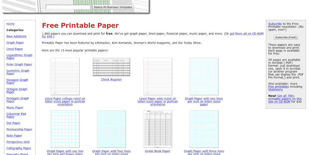 printable paper print graph paper college ruled or other types