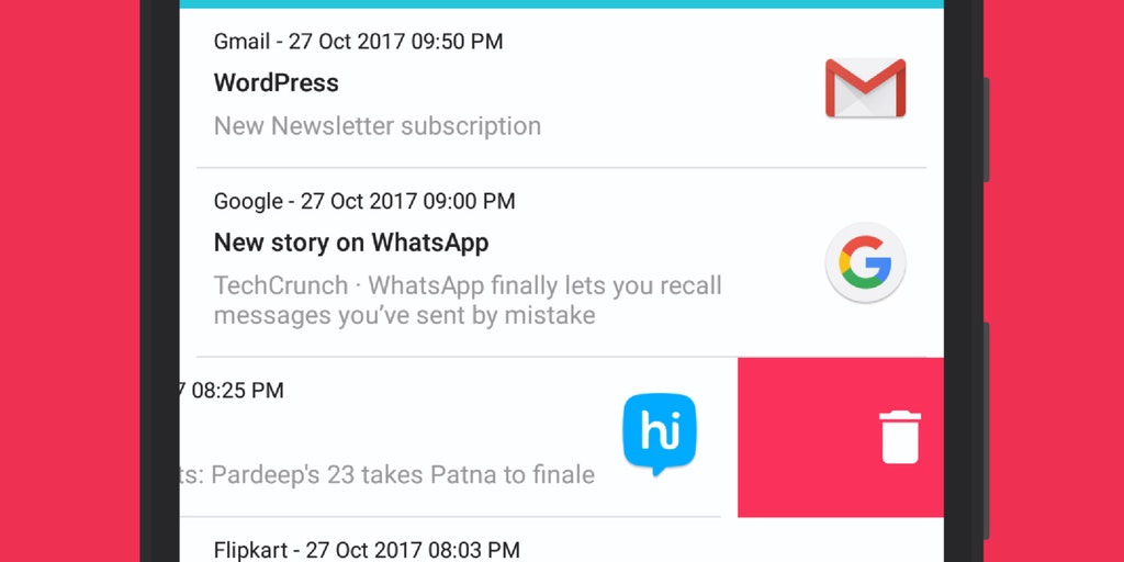 Notification History Log - Get back old notifications you