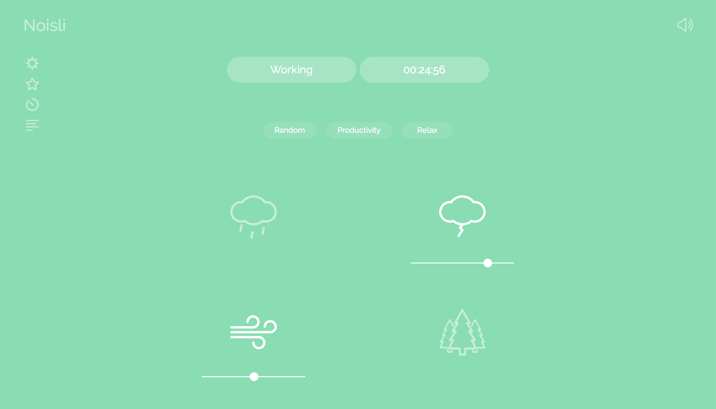This is a website of Noisli