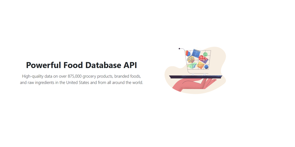 free diet data for generic food api