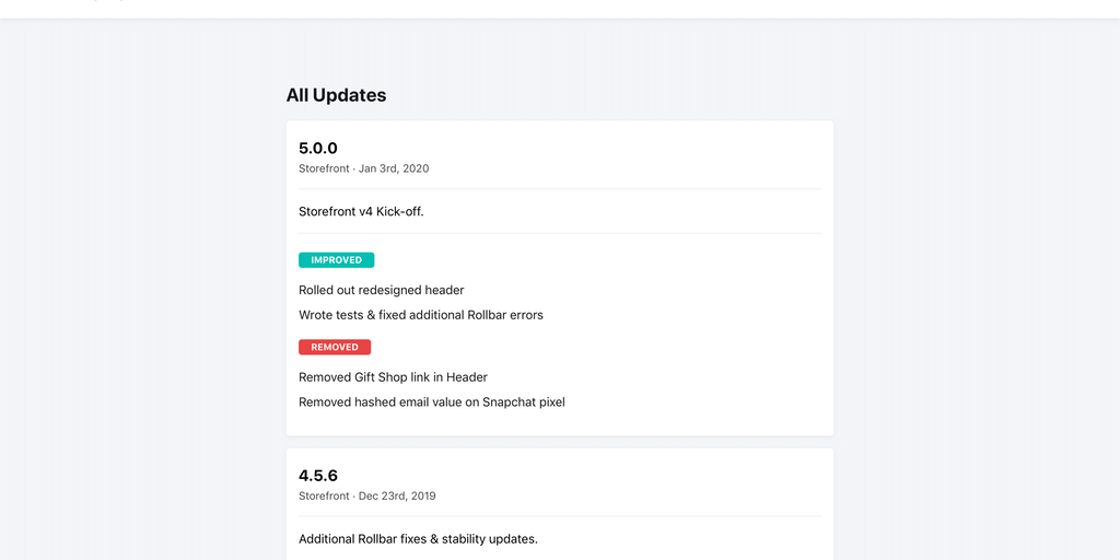 Changefeed v2 - A beautiful changelog for your product in seconds | Product Hunt