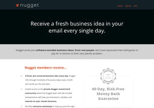 Nugget - Get a new SaaS startup idea, every single day