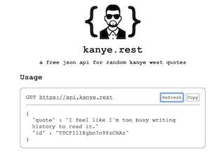 kanye rest - A free REST API for random Kanye West quotes
