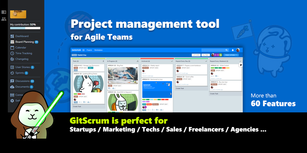 GitScrum - Project management tool for agile teams | Product Hunt