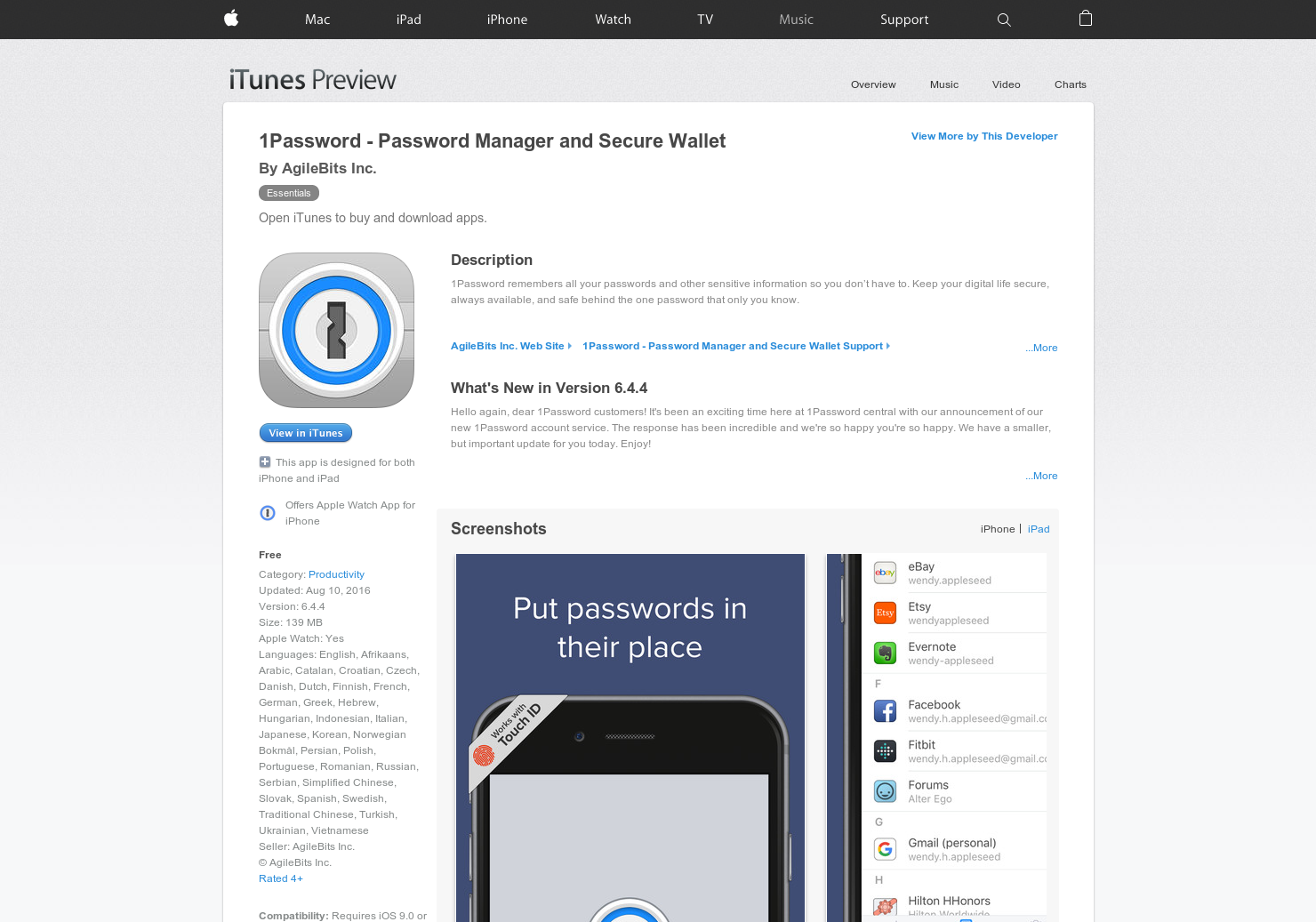 password manager on iphone 8