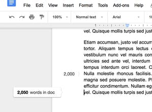 Wordcounter for Google Docs - A real-time word count and