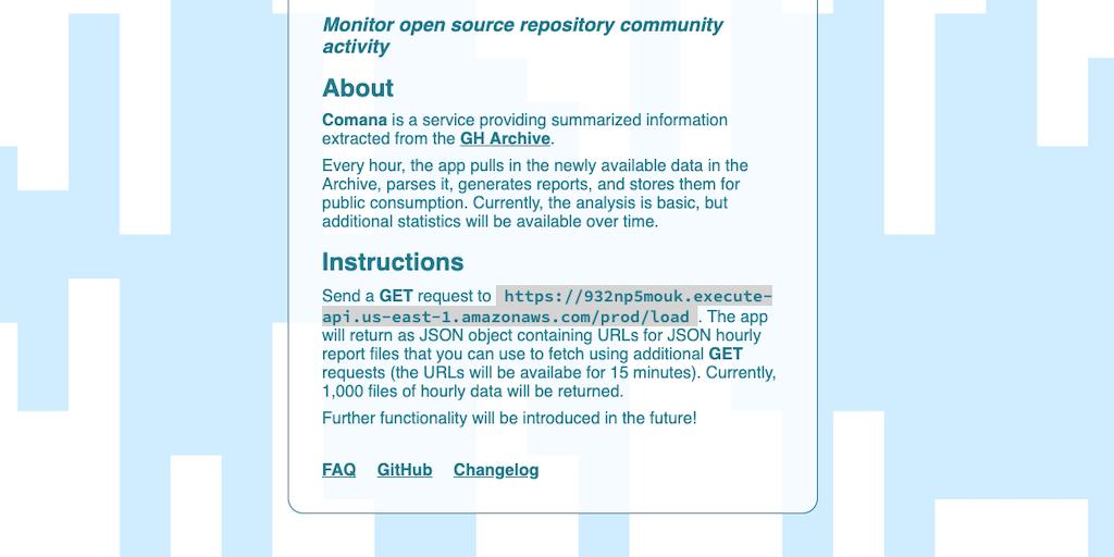Comana - Monitor open source repository community activity