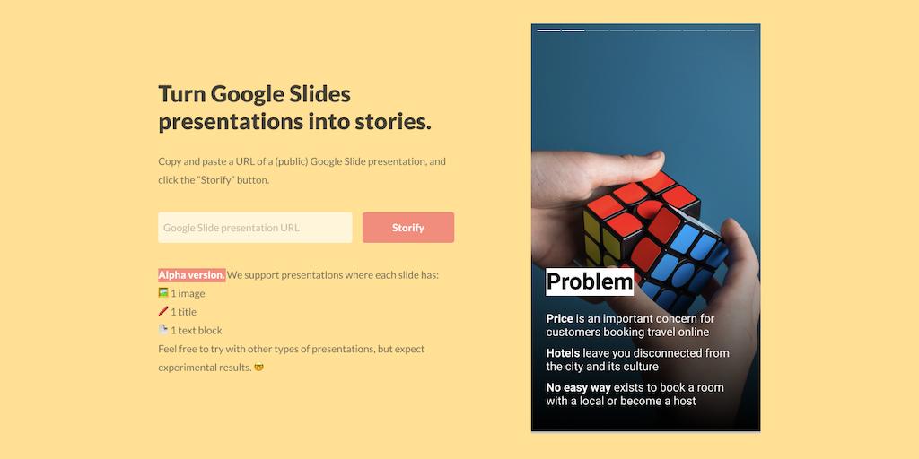 TLDR Stories - Turn Google Slides presentations into
