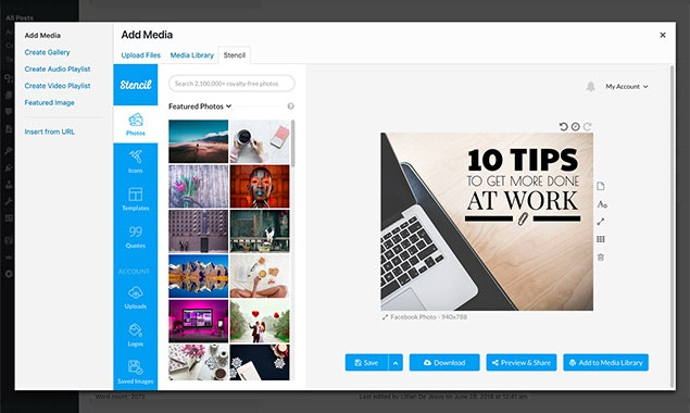 Stencil for WordPress - Create images quickly inside of Wordpress
