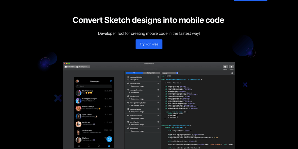 Monday Hero - Convert design to code for mobile developers 😎 | Product Hunt
