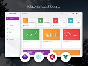 Material Dashboard v2 - Free Admin for Bootstrap 4, React