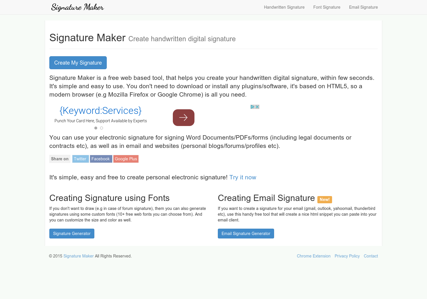 Signature Maker - Free tool that creates your handwritten
