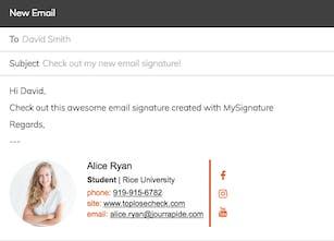 MySignature - Free email signature generator | Product Hunt