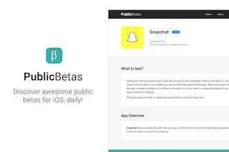 PublicBetas - The best public betas, curated daily