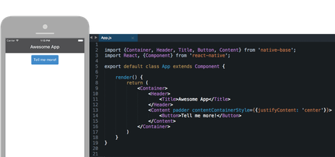 NativeBase - Experience the awesomeness of React Native without the