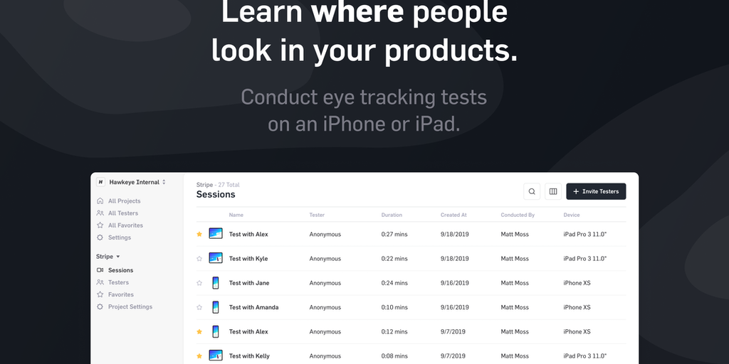 Hawkeye 2.0 - Learn where people look in your products   Product Hunt